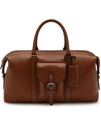 Mulberry - Heritage Weekender In Oak Natural Grain Leather - Lyst