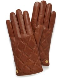 Mulberry - Quilted Nappa Gloves In Cognac Nappa Leather - Lyst