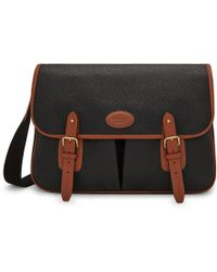 Mulberry - Heritage Messenger In Black And Cognac Scotchgrain - Lyst