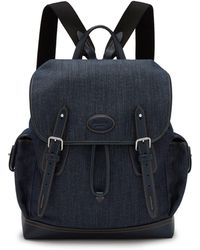Mulberry - Heritage Backpack In Blue Denim And Smooth Calf - Lyst