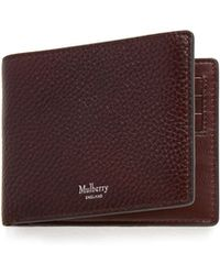 Mulberry - 8 Card Wallet In Oxblood Natural Grain Leather - Lyst