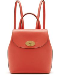 419889021a Mulberry - Mini Bayswater Backpack In Coral Rose Small Classic Grain - Lyst