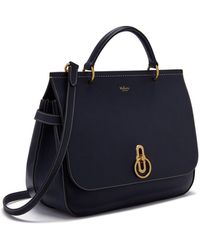 66ba495d64d9 Mulberry - Amberley In Midnight Silky Calf - Lyst