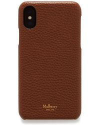 save off 508d4 289e5 Iphone X/xs Cover In Oak Natural Grain Leather