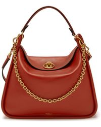 58f4efeb900a Mulberry Small Leighton In White And Coral Red Silky Calf And Python ...