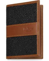 Mulberry - Card Case In Black And Cognac Scotchgrain - Lyst