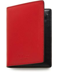 Mulberry - Card Wallet In Hibiscus Red Saffiano - Lyst