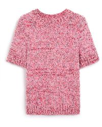Mulberry - Mina Jumper In Pink Summer Tweed Knit - Lyst