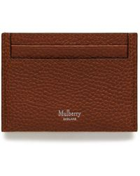 Mulberry - Credit Card Slip In Oak Natural Grain Leather - Lyst