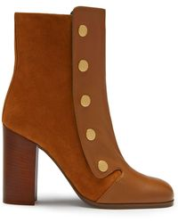 Mulberry - Marylebone Bootie In Oak Nappa And Suede - Lyst