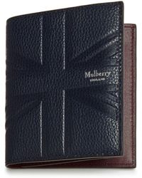 Mulberry - Trifold Wallet In Midnight Small Classic Grain - Lyst