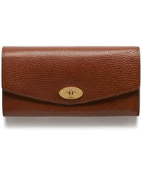 b6c50dc5e79 Mulberry - Darley Wallet In Oak Natural Grain Leather - Lyst