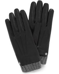 Mulberry - Men's Rivet Gloves In Black Smooth Nappa - Lyst