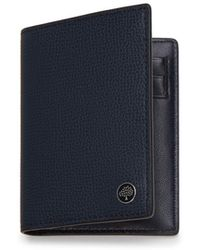 Mulberry - Card Wallet With Tree Plaque In Bright Navy Cross Grain Leather - Lyst