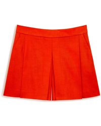 Mulberry - Betty Short In Lipstick Red Linen Tailoring - Lyst