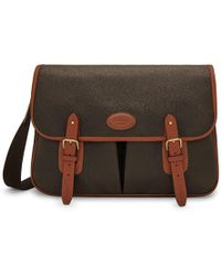Mulberry - Heritage Messenger In Mole And Cognac Scotchgrain - Lyst