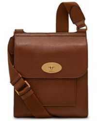Mulberry - New Antony Messenger In Oak Natural Grain Leather - Lyst