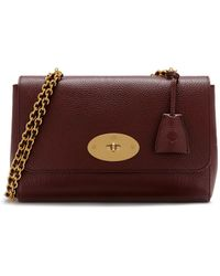 5a367bd4fa Mulberry - Medium Lily In Oxblood Natural Grain Leather - Lyst
