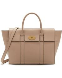 5a1d4b10daa2 Mulberry - Bayswater With Strap In Rosewater Small Classic Grain - Lyst