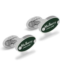 Mulberry | Oval Plaque Cufflink | Lyst