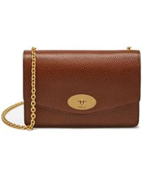 5317f113f2 Mulberry - Small Darley In Oak Natural Grain Leather - Lyst