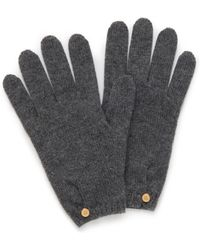 Mulberry - Cashmere Gloves In Grey Cashmere - Lyst