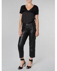Muubaa - Cropped Pants Black - Lyst