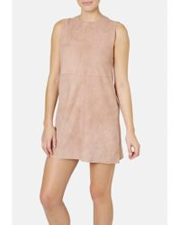 Muubaa - Suede Shift Dress - Lyst