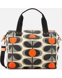Orla Kiely - Canvas Flower Stem Print Zip Messenger Bag - Lyst