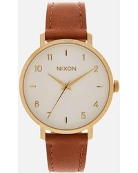 Nixon - The Arrow Leather Watch - Lyst