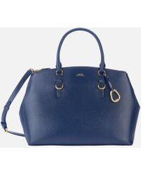 Lauren by Ralph Lauren - Bennington Double Zip Medium Satchel Bag - Lyst