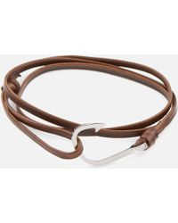 Miansai - Leather Silver Hook Bracelet - Lyst