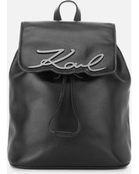 Karl Lagerfeld - Women's Signature Backpack - Lyst