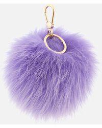 Furla - Bubble Pom Pom Keyring - Lyst