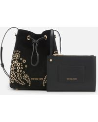 MICHAEL Michael Kors - Cary Small Bucket Bag With Paisely Grommit Studs - Lyst