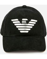 fc97b0c7a0d Emporio Armani - Logo Print Baseball Cap - Lyst