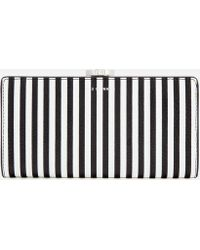 Lulu Guinness - Stripe Leather Frame Purse - Lyst