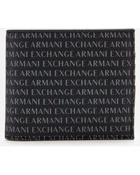 Armani Exchange - All Over Logo Bifold Wallet - Lyst
