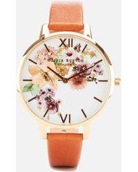 Olivia Burton - Flower Show Watercolour Watch - Lyst
