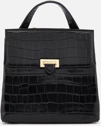 Aspinal - Boxy Croc Soho Backpack - Lyst