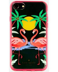 Kate Spade - Jewelled Flamingos Iphone 8 Cover - Lyst