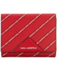 Karl Lagerfeld - Women's K/stripe Logo Medium Wallet - Lyst