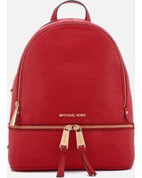 MICHAEL Michael Kors - Women's Rhea Zip Medium Backpack - Lyst