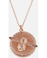 Olivia Burton - 3d Bee Disc Necklace - Lyst