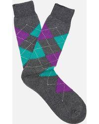 Pantherella - Men's Turnmil Egyption Cotton Argyle Socks - Lyst