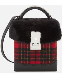 the VOLON - Great L. Box Fur Bag - Lyst