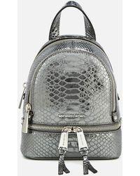 2ae742fef131 MICHAEL Michael Kors   Rhea Zip Extra Small Messenger Backpack   Lyst