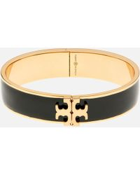 Tory Burch - Raised Logo Enamel Hinged Bracelet - Lyst
