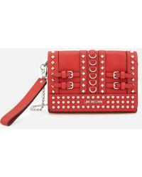 2072c49573 Love Moschino - Studded Small Cross Body Bag - Lyst