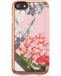 Ted Baker - Carolyn Palace Garden Iphone Flip Case - Lyst